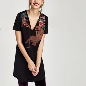 Zara Panther Shift Dress